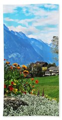 Glorious Alpine Meadow Beach Towel