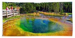 Glory Pool Yellowstone National Park Beach Sheet