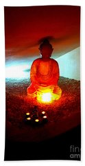 Glowing Buddha Beach Towel