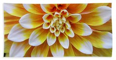 Glowing Dahlia Beach Sheet by Dora Sofia Caputo Photographic Art and Design