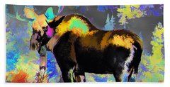 Electric Moose Beach Towel