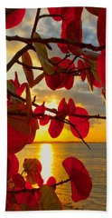 Glowing Red Beach Towel by Stephen Anderson