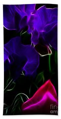 Glowing Sweet Peas Beach Towel