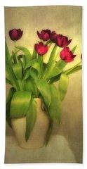 Glowing Tulips Beach Sheet