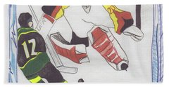 Beach Towel featuring the drawing Shut Out By Jrr by First Star Art