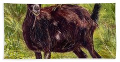 Goat Piggybackers Beach Towel