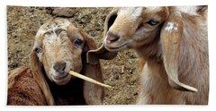 Goats #2 Beach Towel