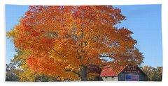 God Bless America-autumn Beach Towel