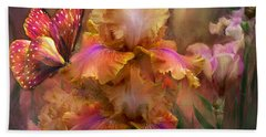 Goddess Of Sunrise Beach Towel by Carol Cavalaris