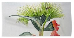 Flowering Gum Tree Beach Sheet by Elvira Ingram