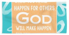 God's Gift - Blue Beach Towel