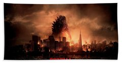 Godzilla 2014 Beach Sheet by Movie Poster Prints
