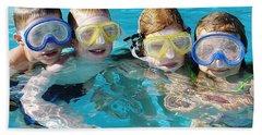 Beach Towel featuring the photograph Goggle Eyed Quartet by David Nicholls