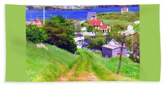 Going Down To Town Beach Towel