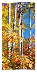Gold Autumn Beach Towel