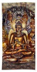Gold Buddha Beach Towel