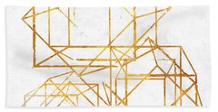 Gold Cubed I Beach Towel