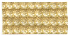 Beach Towel featuring the photograph Gold Sparkle Tone Pattern Unique Graphics by Navin Joshi