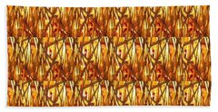 Beach Towel featuring the photograph Gold Strand Sparkle Decorations by Navin Joshi