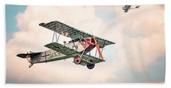 Beach Towel featuring the photograph Golden Age Of Aviation - Replica Fokker D Vll - World War I by Gary Heller