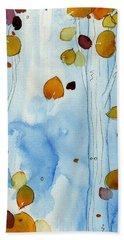 Golden Aspens Beach Sheet by Dawn Derman