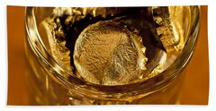 Beach Sheet featuring the photograph Golden Beer  Mug  by Wilma  Birdwell