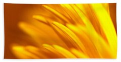 Golden Dahlia Beach Sheet