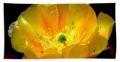 Golden Desert Flower Beach Towel