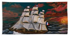 Golden Era Of Sail Beach Towel