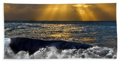 Golden Eye Of The Morning Beach Towel by Miroslava Jurcik
