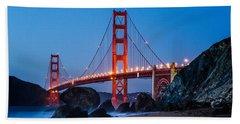 Golden Gate At Twilight Beach Towel
