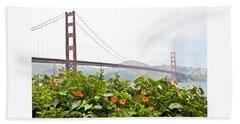 Golden Gate Bridge 2 Beach Sheet