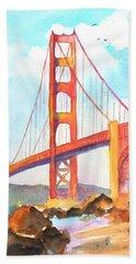 Golden Gate Bridge 3 Beach Sheet