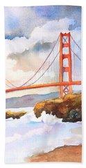 Golden Gate Bridge 4 Beach Sheet