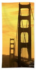 Golden Gate Bridge  Beach Sheet by Clare Bevan