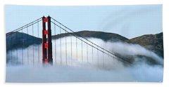 Golden Gate Bridge Clouds Beach Towel
