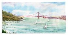 Golden Gate Bridge View From Point Bonita Beach Towel
