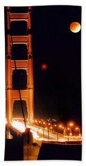 Golden Gate Night Beach Sheet