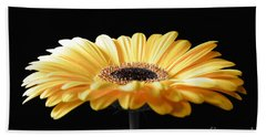 Golden Gerbera Daisy No 2 Beach Towel