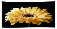 Golden Gerbera Daisy No 2 Beach Sheet