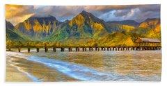 Golden Hanalei Morning Beach Sheet