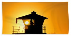 Beach Towel featuring the photograph Golden Hour by Tammy Espino