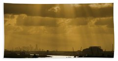Golden Light Beach Towel by Linda Unger