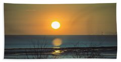 Golden Orb Beach Towel