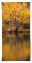 Golden Pond Beach Towel by Steven Milner