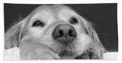 Golden Retriever Dog I See You Beach Sheet