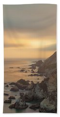 Golden Seashore Beach Towel by Jonathan Nguyen