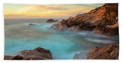 Golden Sky Beach Towel by Jonathan Nguyen