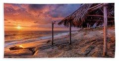 Golden Sunset The Surf Shack Beach Towel