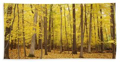 Golden Woods Beach Towel
